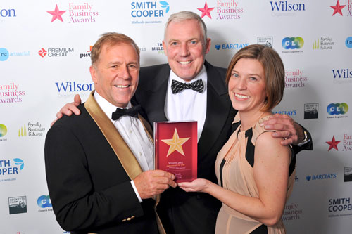 Lestercast win Employer of the Year Award and Highly Commended in Manufacturing Excellence 2014 at the Family Business Awards 2014