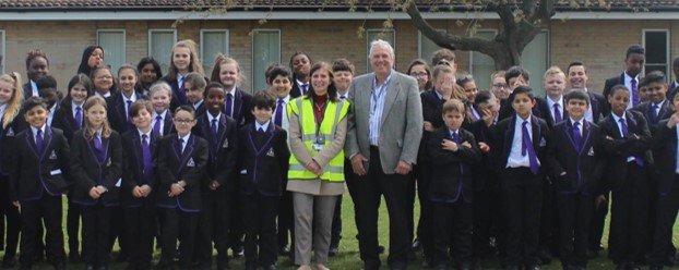 Chris Batty with 'the Engineers of the future'