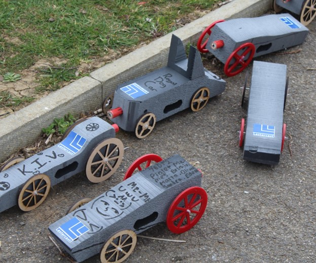 Rocket Cars with Lestercast Logo - engineers of the future